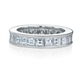 Carre french cut eternity band